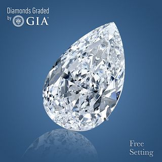 2.81 ct, G/VVS1, Pear cut GIA Graded Diamond. Appraised Value: $74,700