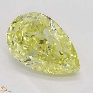 2.00 ct, Natural Fancy Intense Yellow Even Color, IF, Pear cut Diamond (GIA Graded), Appraised Value: $76,700