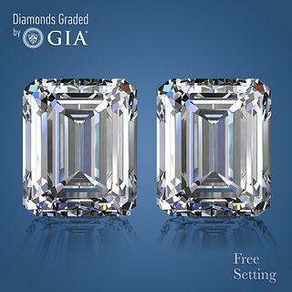 4.02 carat diamond pair Emerald cut Diamond GIA Graded 1) 2.01 ct, Color G, VS1 2) 2.01 ct, Color H, VS1. Appraised Value: $88,000