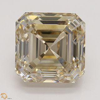 2.53 ct, Natural Fancy Light Brown Even Color, VS1, Square Emerald cut Diamond (GIA Graded), Appraised Value: $24,200