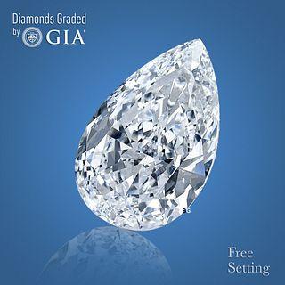 3.04 ct, D/VS2, Pear cut GIA Graded Diamond. Appraised Value: $125,000