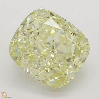 4.04 ct, Natural Fancy Yellow Even Color, VS1, Cushion cut Diamond (GIA Graded), Appraised Value: $96,100