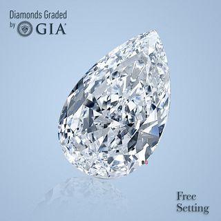 3.51 ct, D/FL, TYPE IIa Pear cut GIA Graded Diamond. Appraised Value: $343,500