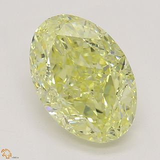 2.08 ct, Natural Fancy Yellow Even Color, IF, Oval cut Diamond (GIA Graded), Appraised Value: $34,300