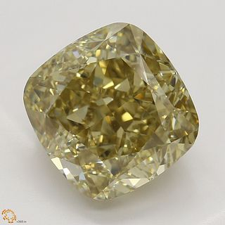 5.01 ct, Natural Fancy Brown Yellow Even Color, VS2, Cushion cut Diamond (GIA Graded), Appraised Value: $74,600