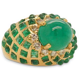 Levian 18k, Emerald and  Diamond Ring