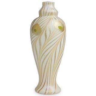 Steuben Gold Aurene Alabaster Vase
