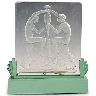 Glass Figural Relief Luminor