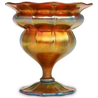 Steuben Gold Aurene Floriform Vase