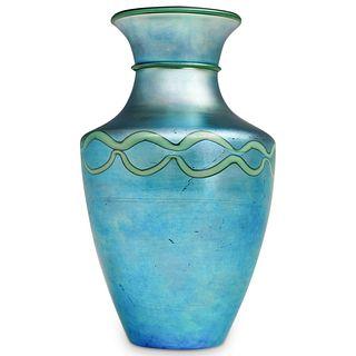 Rare Steuben Blue Aurene Vase