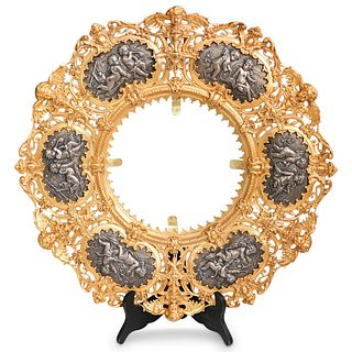 19th Cent. French Gilt and  Silver Bronze Frame