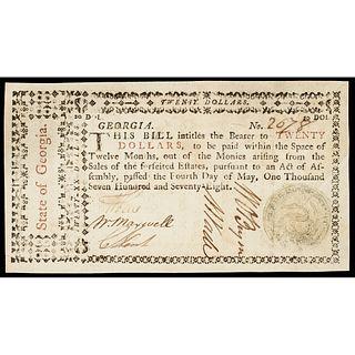 1778 William Few U.S. Constitution Signer Georgia Note PMG About Uncirculated-53