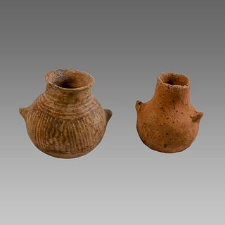 Lot of 2 Iron Age terracotta Vessels c.1400 BC.