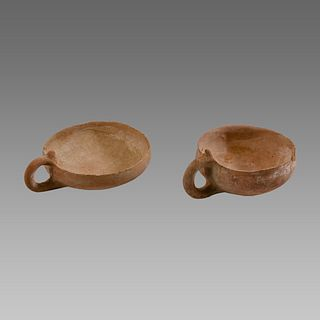 Lot of 2 Holy land Bronze Age Terracotta Cups c.2000 BC.