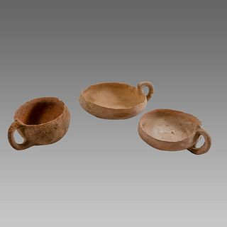 Lot of 3 Holy land Bronze Age Terracotta Cups c.2000 BC.