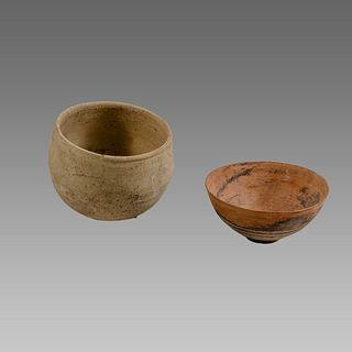 Lot of 2 Iron Age Terracotta bowls c.1400 BC.