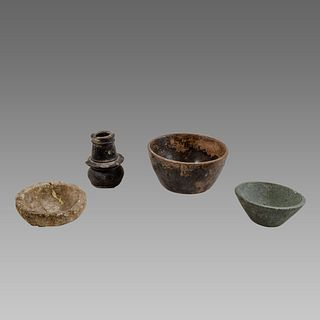 Lot of 4 Bactrian Stone Bowls c.200 BC.