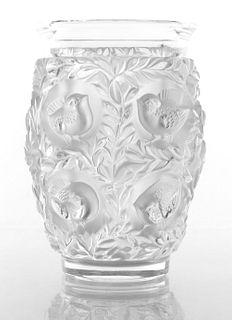"Lalique ""Bagatelle"" Frosted Art Glass Vase"