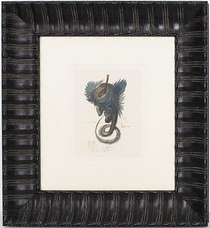 "Salvador Dali ""The Black Cherub"" Woodcut"
