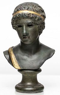 Classical Style Bust Of A Youth Athlete