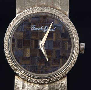 Bueche-Girod 18K Yellow Gold Tiger's Eye Watch