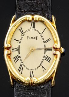 Piaget 18K Yellow Gold Oval Ladies' Wristwatch