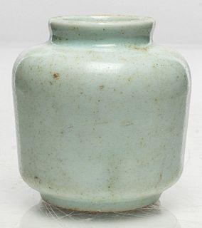 Korean White Glazed Porcelain Medicine Jar