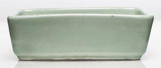 Chinese Yongzheng Mark Celadon Porcelain Pot