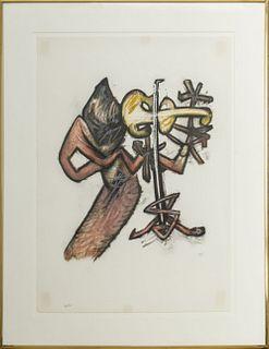 """Roberto Matta """"Untitled"""" Lithograph, 1980"""