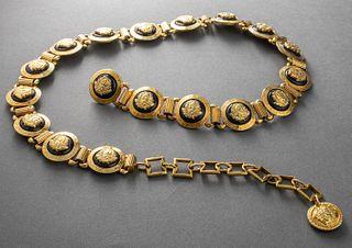 "Gianni Versace Gold-Tone ""Medusa"" Belt"