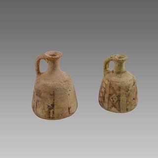 Lot of 2 Iron Age Terracotta Juglets c.1400 BC.
