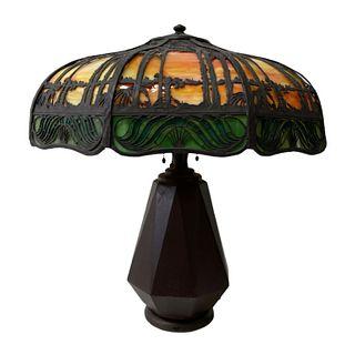 Handel Teroca Sunset Palm Trees Table Lamp