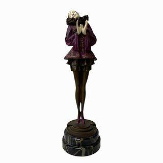 Art Deco Style Harlequin Bronze Statue