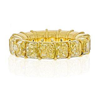 18K YELLOW GOLD 14.28 CARATS FANCY YELLOW CUSHION