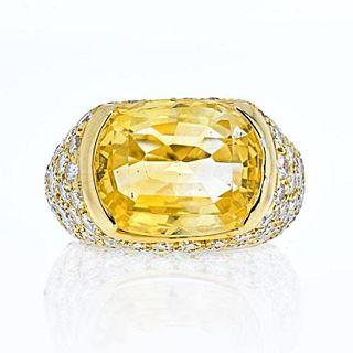 VAN CLEEF & ARPELS 18K YELLOW GOLD OVAL CUT YELLOW