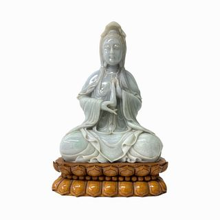 Chinese Quan Yen Carved Jade Figure
