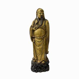 Chinese Figure Gilt Bronze