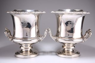 A PAIR OF OLD SHEFFIELD PLATE WINE COOLERS, CIRCA 1820,by