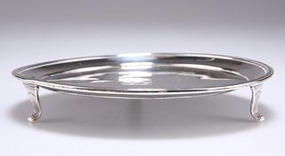 A GEORGE III SMALL SILVER WAITER,by Peter, Ann & William B