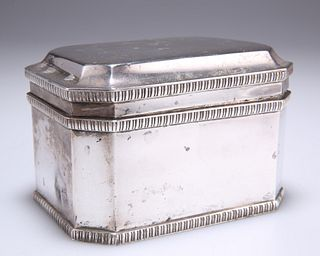 AN EDWARD VIII SILVER BISCUIT BOX,byWilliam Bruford & Son