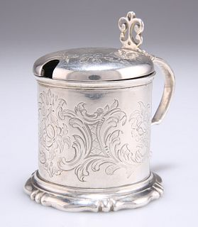 A VICTORIAN SILVER MUSTARD POT,byDaniel & Charles Houle,