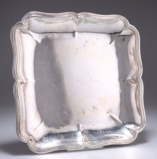 AN 18TH CENTURY CONTINENTAL SILVER DISH, probably Portugues