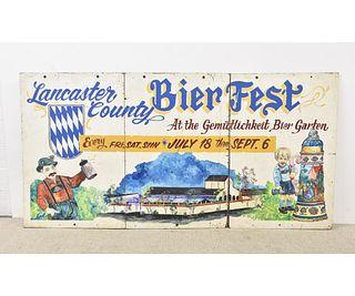 Lancaster County Bier Fest Sign