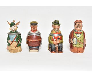 Four German Character Steins