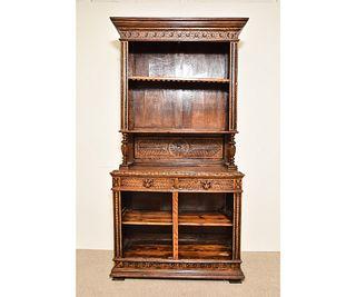 Oak Open Shelf Cupboard