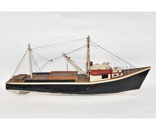 Wooden Fishing Boat Model