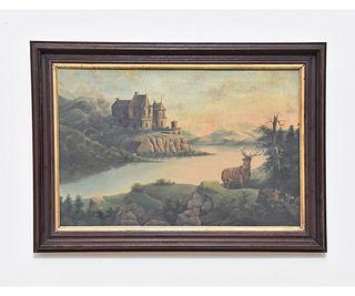Oil on Canvas Castle Landscape