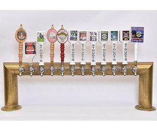 Stoudt's Brass Bar Beer Tap