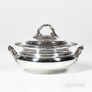 French Sterling Silver Covered Tureen