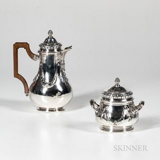 French Single Serving Teapot and Sugar Bowl